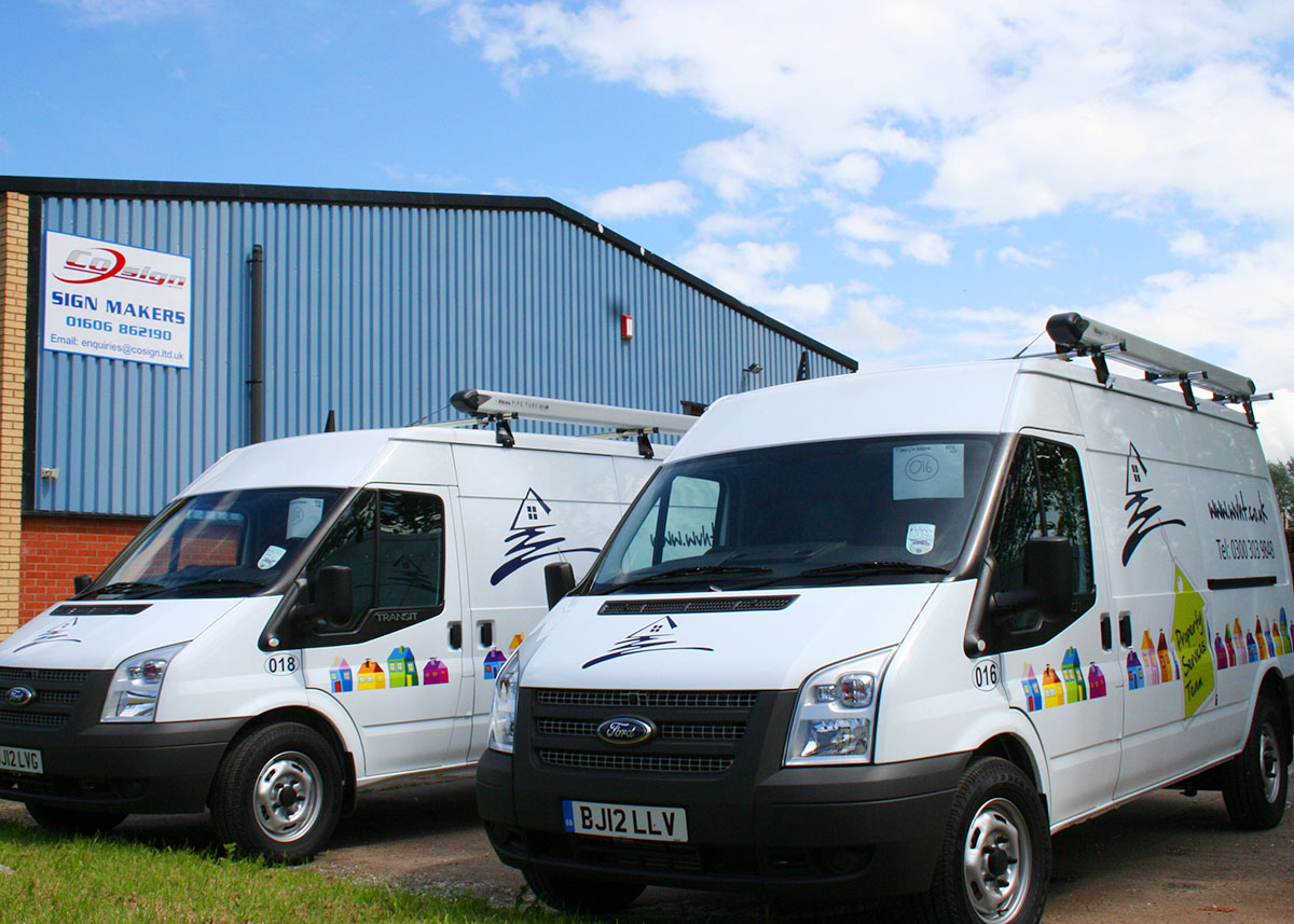 vehicle graphics white transit vans weaver vale