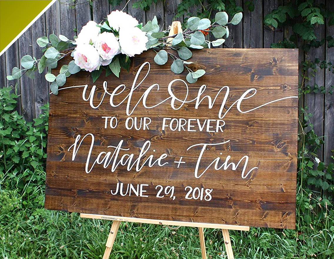 wedding events signage