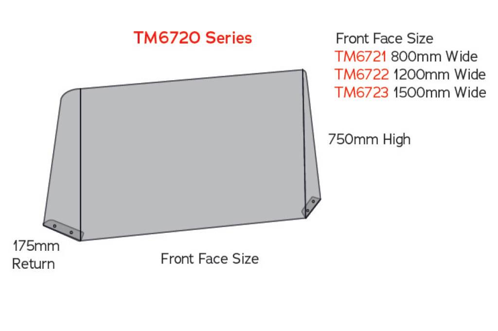 sneeze guard tm6720 counter screen