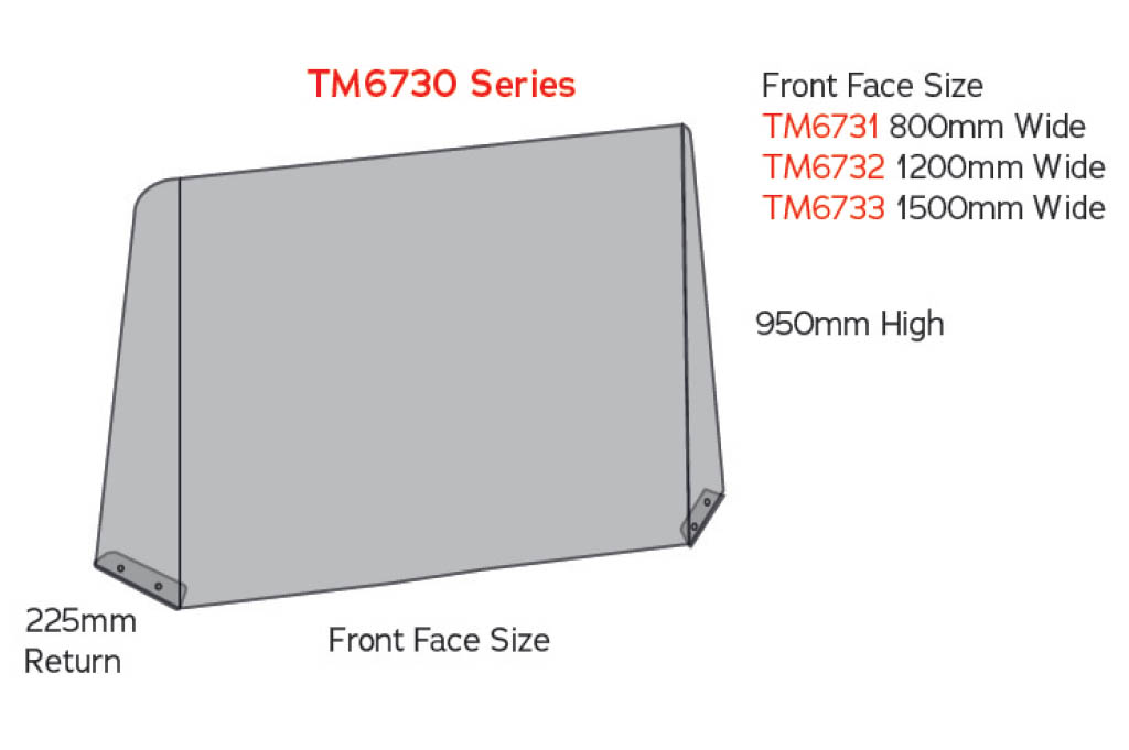 sneeze guard tm6730 counter screen