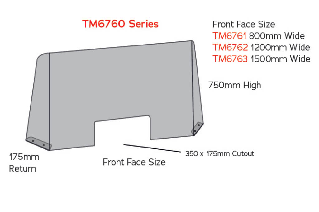 sneeze guard tm6760 counter screen