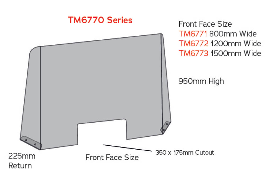 sneeze guard tm6770 counter screen