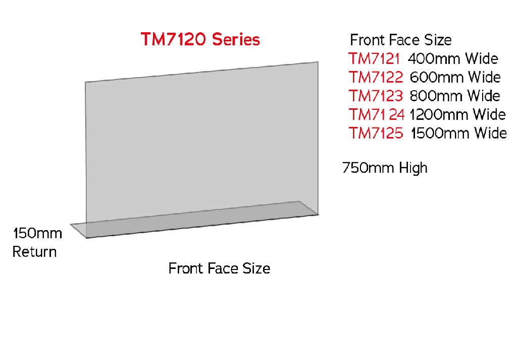 sneeze guard tm7120 counter screen