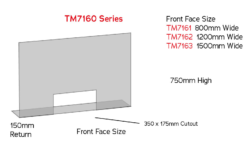 sneeze guard tm7160 counter screen